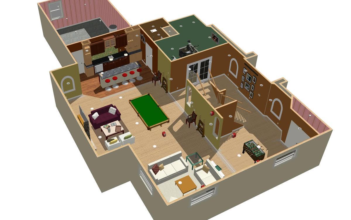 3D Basement Plan3