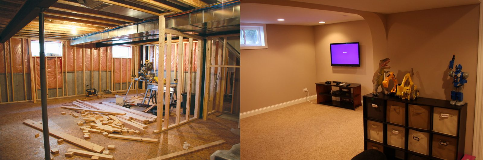 Chicago Basement Remodeling befor and after  basement remodeling  basement remodeling