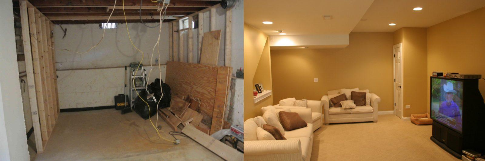 chicago basement remodeling. Before-after-4 Chicago Basement Remodeling